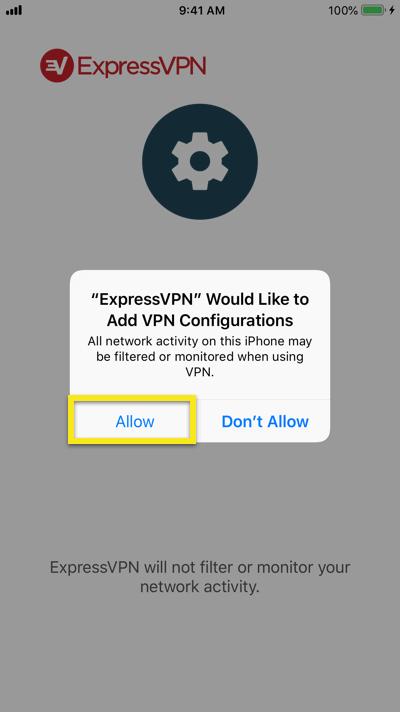 ExpressVPN的iOS(iPhone/iPad)安装设置中文指南